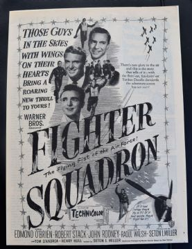 Fighter Squadron (1948) - Robert Stack | Vintage Trade Ad